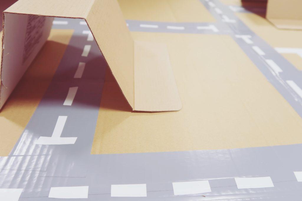 トミカの道路を手作りする