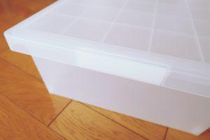 無印のポリプロピレンキャリーボックス