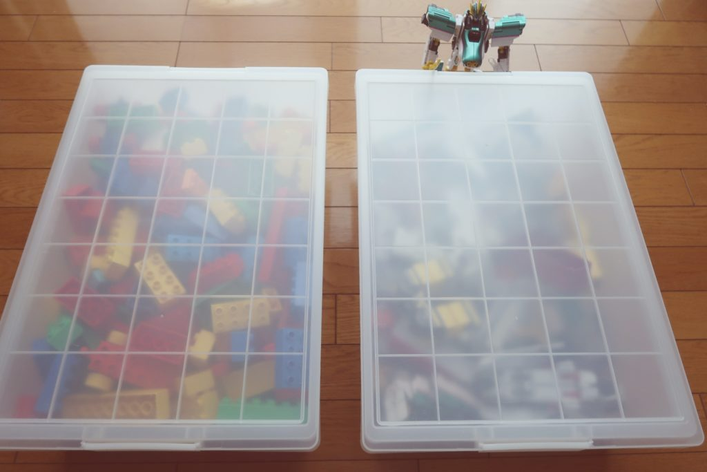 無印のポリプロピレンキャリーボックスにレゴデュプロを収納