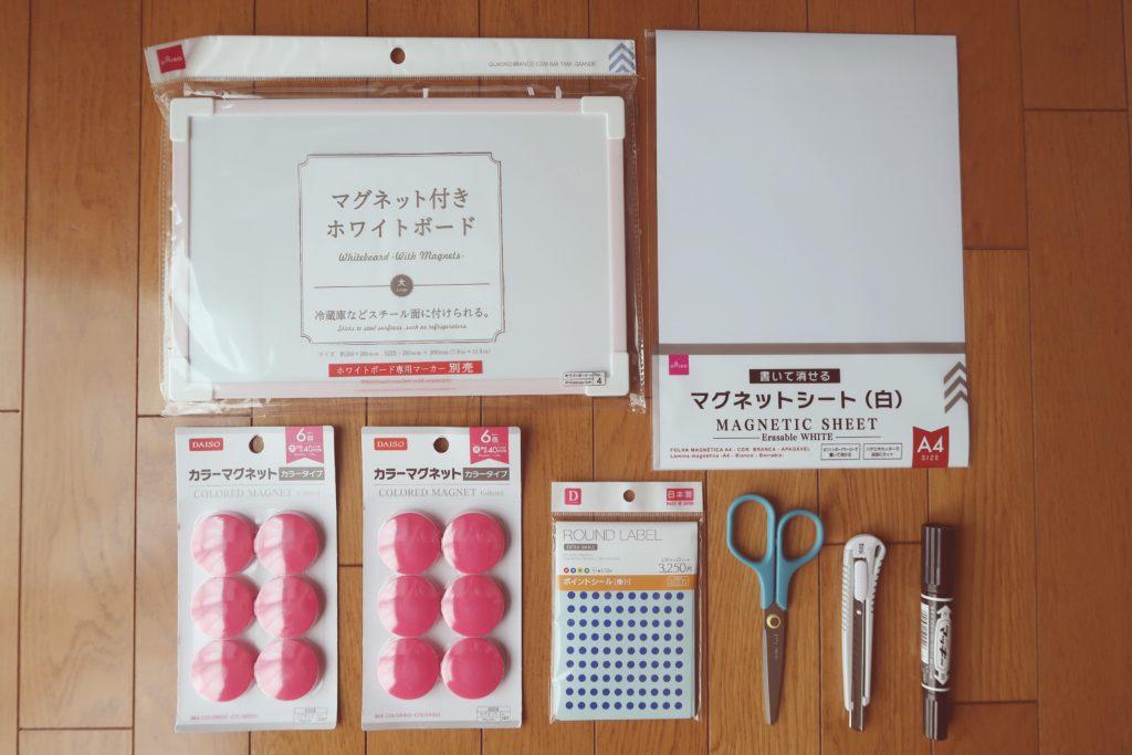 手作りおもちゃ 数字盤の材料